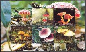 Djibouti 2011 Mushrooms (3) MNH Cinderella !
