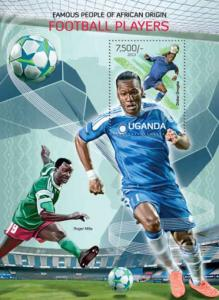 Uganda - Football Players - Souvenir Sheet - 21D-086