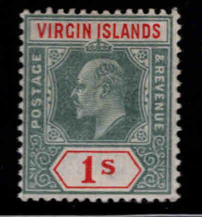 Virgin Islands  Scott 35 MH* KEVII 1904 CV  $7.50
