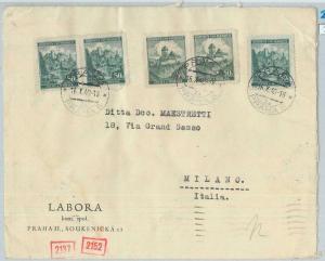 77399 - Bohemia-Moravia - Postal History - Censored COVER to ITALY 1940