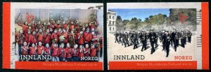 HERRICKSTAMP NEW ISSUES NORWAY Sc.# 1848-49 Marching Band Self-Adh.