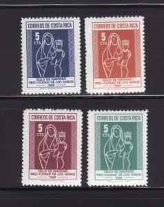 Costa Rica RA41-RA44 Set MNH Madonna and Child (C)