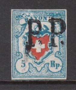 Switzerland #9 Used **With Certificate**