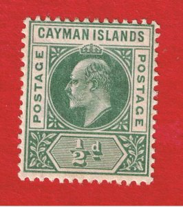 Cayman Islands #8  MVFLH OG Edward Vll  Free S/H