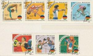 Malagasy Republic 1992 Olympic Games Full Set Mi. 1374-1380 Used 11896