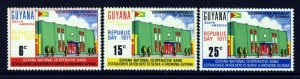 GUYANA 1971 Complete Republic Day Set SG 531 to SG 533 MNH