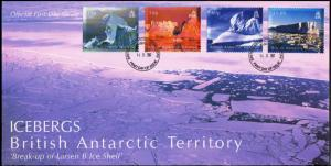 British Antarctic Territory Scott 378-381 Unaddressed.