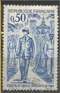 FRANCE, 1971 used 50c, De Gaulle , Scott 1323