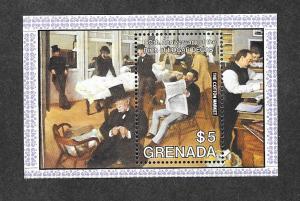 Grenada 1231 Mint NH S/S Edgar Degas Cotton Market!