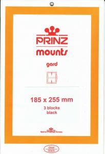 PRINZ BLACK MOUNTS 185X255 (3) RETAIL PRICE $10.50