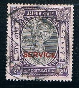 India Jaipur O13: 1/2a Raja Man Singh II official overprint, used, VF