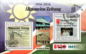 Namibia - 2016 100 Years of Allgemeine Zeitung MS Used