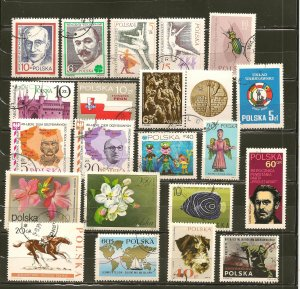 Poland Collection of 21 Different 1960's-1970's Commemorative Stamps CTO