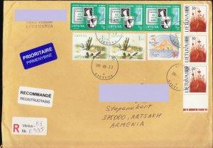 LITHUANIA LIETUVA REGISTERED TO NAGORNO MOUNTAINOUS KARABAKH ARMENIA 2005 R1061