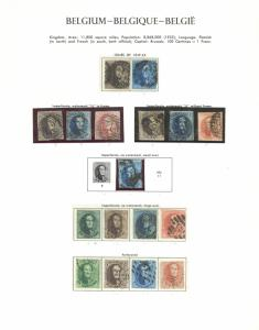Belgium Sc# 1-16 Used 1849-1865 King Leopold I Early Collection