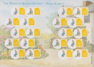 LS50 GB 2008 Beatrix Potter - New Baby Peter Rabbit Smiler sheet UNMOUNTED MINT
