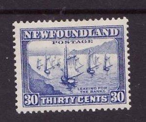 Newfoundland-Sc #198-unused,og,hinged-30c Fishing Fleet-Ships-id5-1932-7-