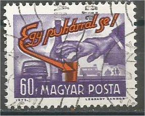 HUNGARY, 1973, used 60k, traffic rules, Scott 2248