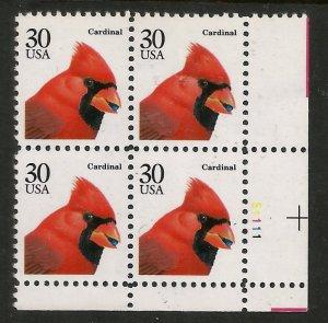 US  2480  MNH,  PLATE BLOCK,  CARDINAL