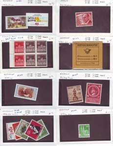 Z631 JL stamps germany mnh on sales cards, check scan, all checked sound