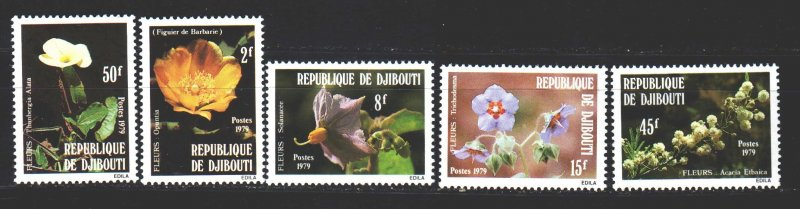Djibouti. 1979. 253-57. Cactus, nightshade, borage, acacia - used to treat go...