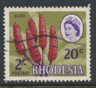 Rhodesia   SG 411  SC# 248 Used  Aloe Dual Currency    see details