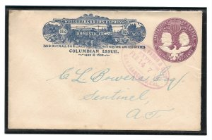 Doyle's_Stamps: Historic 1892 Wells Fargo Cover Posted from San Francisco