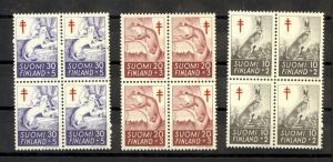 Finland Scott B142-B144 Mint NH blocks