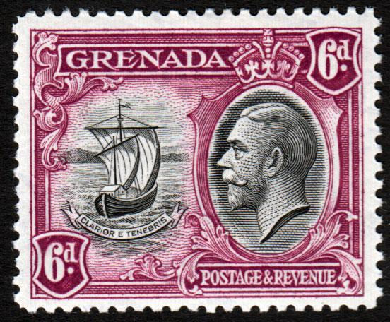 Grenada KGV 1934 6d Black Purple SG141 Mint Lightly Hinged