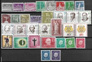 COLLECTION LOT OF 32 GERMANY BERLIN STAMPS 1956+ CV+$42