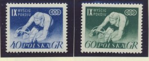 Poland Stamps Scott #727 To 728, Mint Never Hinged - Free U.S. Shipping, Free...