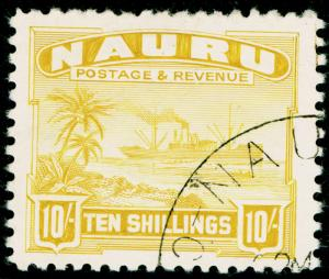 NAURU SG39B, 10s yellow, FINE USED, CDS. Cat £100.
