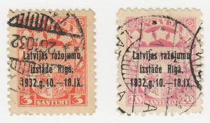 Latvia - 1932 - SC 164,166 - Used