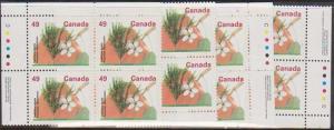 Canada #1364 Mint MS Ashton Potter Imprint Blocks VF-NH49c Delicious Apple