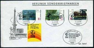 Germany-Berlin 9N328-330,FDC.Michel 423-425. Paintings of Berlin Lakes,1972.