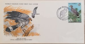 O) 1978 GAMBIA, RESERVE, WWF BIRDS OF PREY AND WILDLIFE, WEST AFRICAN HARRIER HA