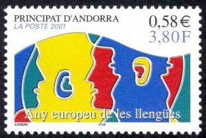 Andorra, French Sc# 539 MNH 2001 European Language Year