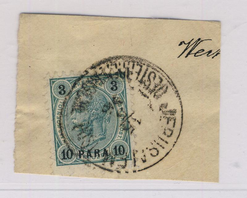 AUSTRIAN LEVANT - 1896 - MiNr.21 CANCELLED JERUSALEM ON SMALL FRAGMENT