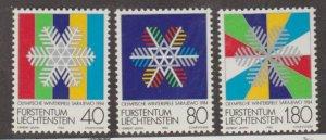 Liechtenstein Scott #772-773-774 Stamps - Mint NH Set