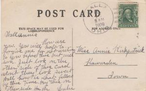 United States Ohio Calla 1909 doane 2/16  1881-1933  PC  Small crease at top ...