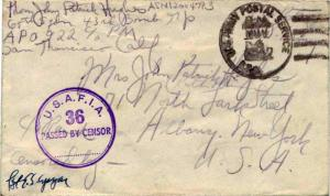 United States A.P.O.'s Soldier's Free Mail 1942 U.S. Army Postal Service, A.P...