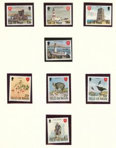 Isle of Man Scott 113-129 MNH** set