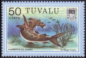 Tuvalu # 109 mnh ~ 50¢ Hammerhead Shark