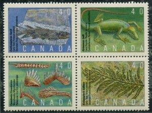 1309a Canada 40c Prehistoric Life, MNH blk/4