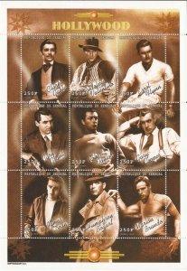 Senegal - 1999 Hollywood Actors Gable, Brando, Bogart, Dean - 19F-031