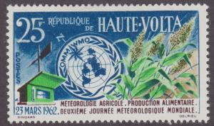 Burkina Faso 95 World Meteorological Day 1962