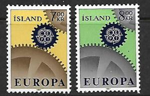 ICELAND 384-385 MINT HINGED EUROPA 1966