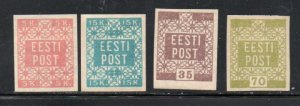 Estonia Sc 1-14 1918-19 1st stamp set mint imperf