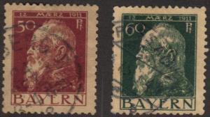 Bavaria #84-84A used kings