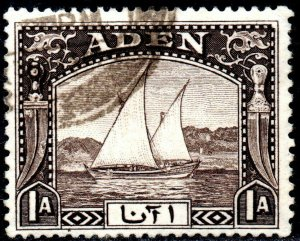 1937 Aden Sg 3 1a Sepia Fine Used